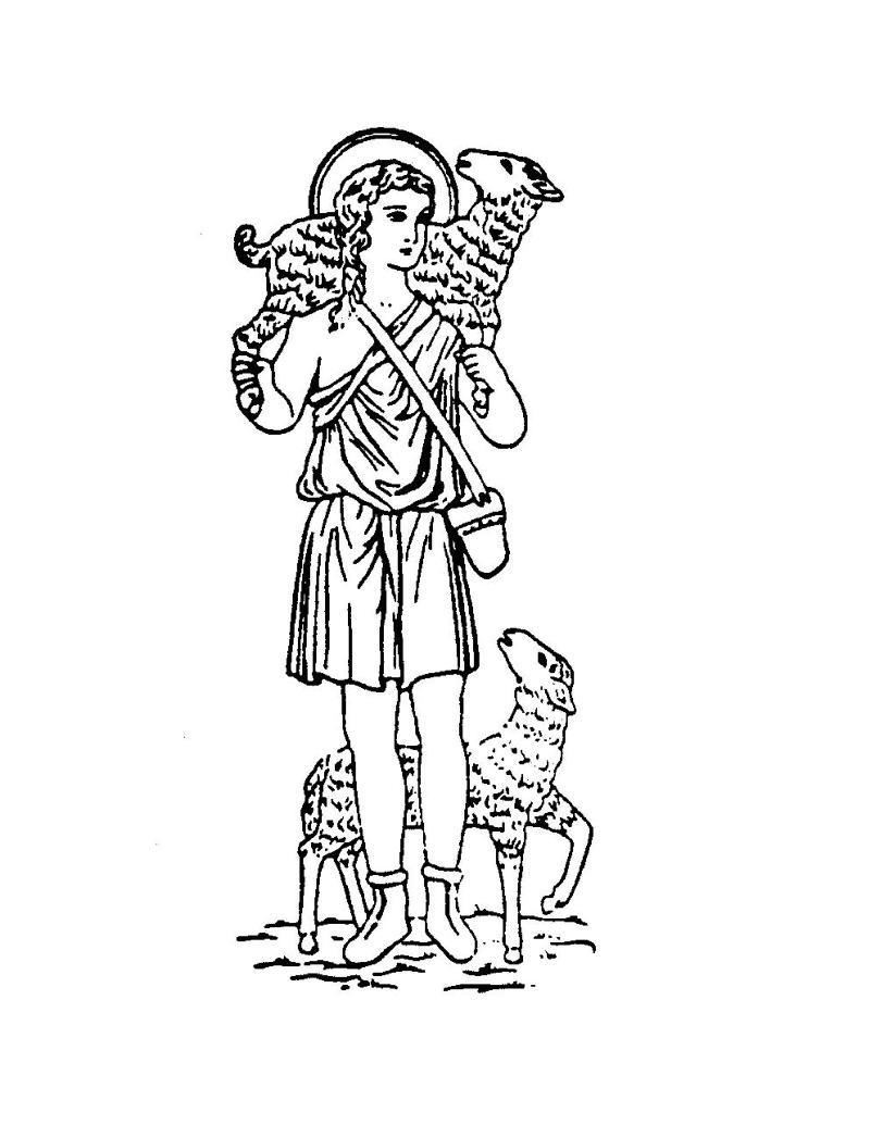good shepherd coloring page - religious ed calendar good shepherd